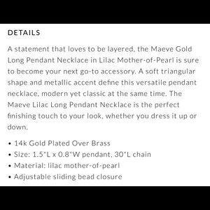 Kendra Scott Jewelry - NEW KENDRA SCOTT ROSE GOLD MAEVE NECKLACE